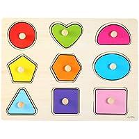 FTVOGUE 形状 カラー ソーター 面白い 幼児 木製 幾何学パズル 子供 早期教育 手遊び おもちゃ