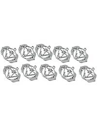 【ノーブランド 品】三角形 数字3 ペンダント アンティークシルバー ジュエリーのDIY 10個