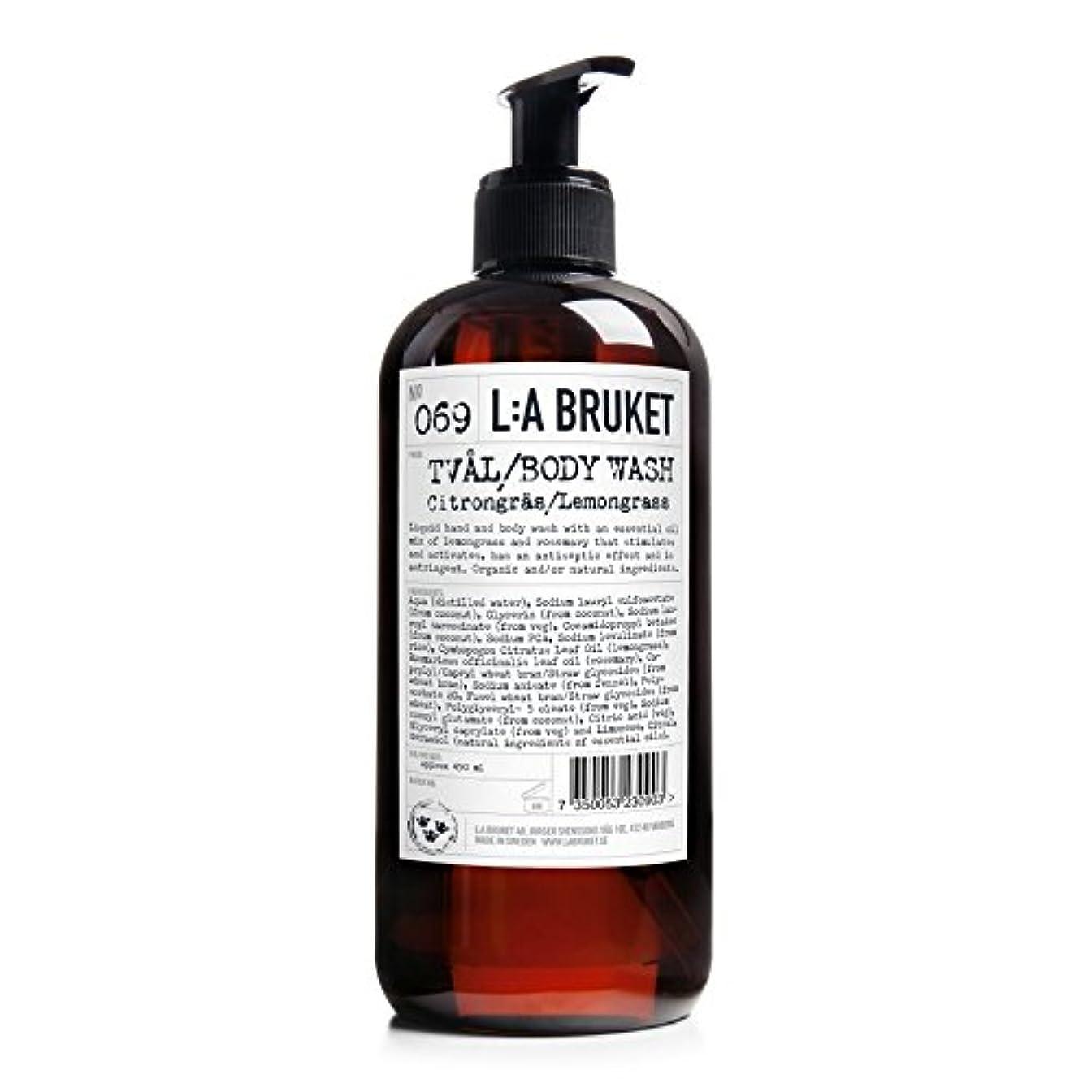 伴うどちらも行政L:A Bruket Lemongrass Liquid Soap 450ml - :レモングラス液体石鹸450ミリリットル [並行輸入品]