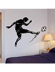 Mingld 男の子の部屋の壁デカールサッカーキックサッカーボールスポーツの装飾クールな内壁紙男の子のための寝室のポスター44X70Cm