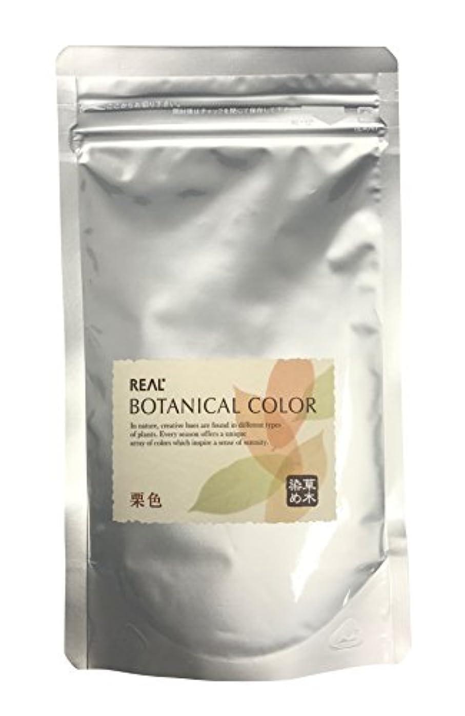 はがき専門用語穀物リアル化学 ボタニカルカラー 栗色 100g