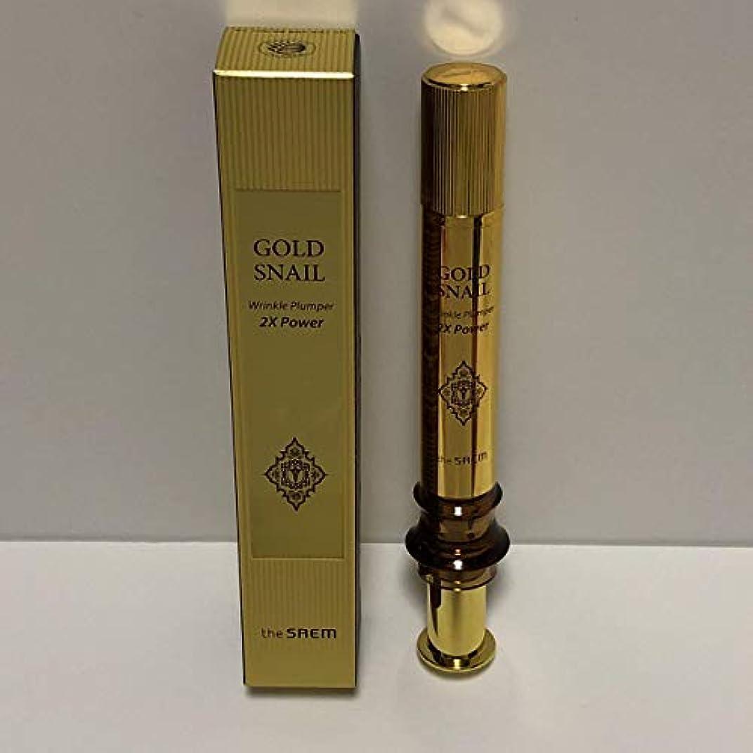 余分なジュース一The Saem Gold Snail Wrinkle Plumper 2X Power 12ml / ザセム ゴールド カタツムリ リンクル プルーパー2Xパワー [並行輸入品]