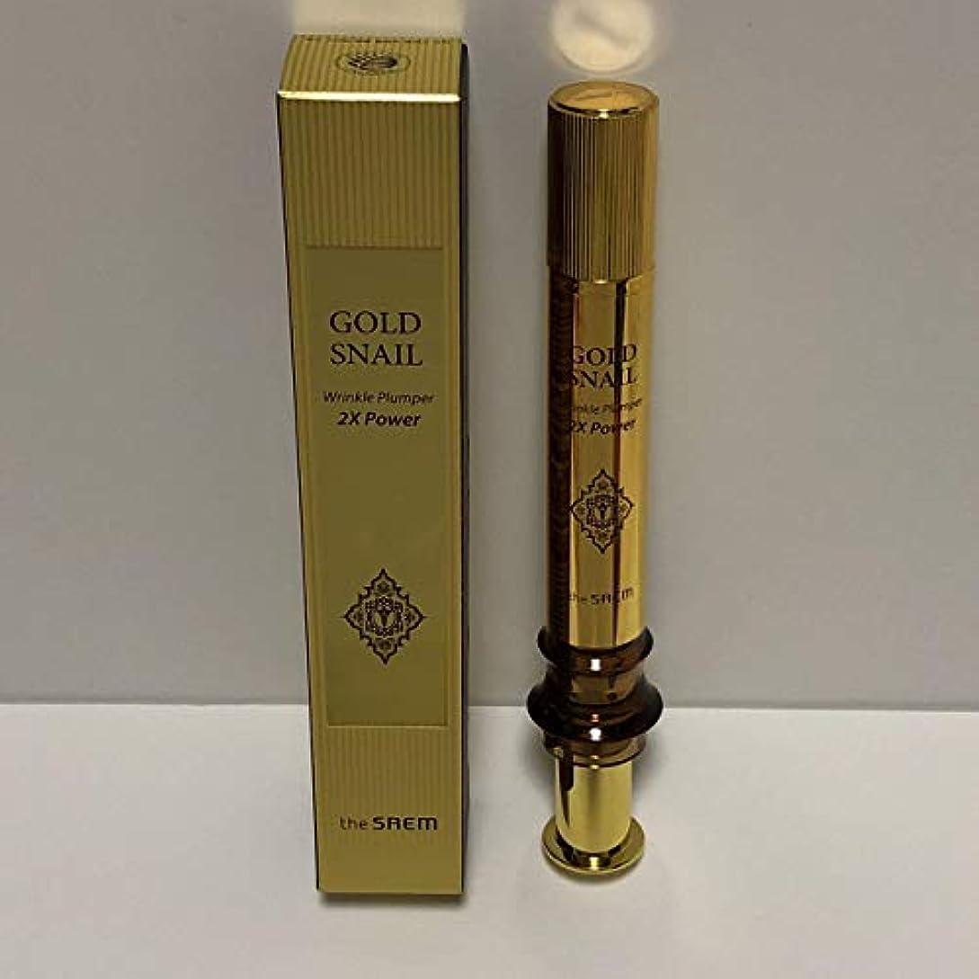 容器タイヤ汚いThe Saem Gold Snail Wrinkle Plumper 2X Power 12ml / ザセム ゴールド カタツムリ リンクル プルーパー2Xパワー [並行輸入品]
