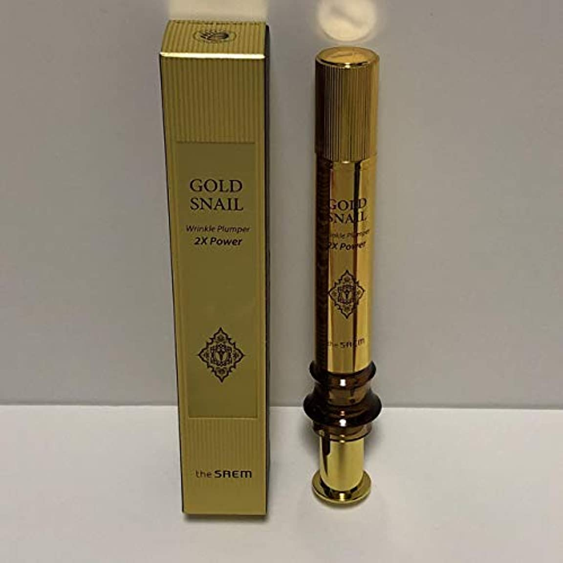 アグネスグレイ帳面全国The Saem Gold Snail Wrinkle Plumper 2X Power 12ml / ザセム ゴールド カタツムリ リンクル プルーパー2Xパワー [並行輸入品]