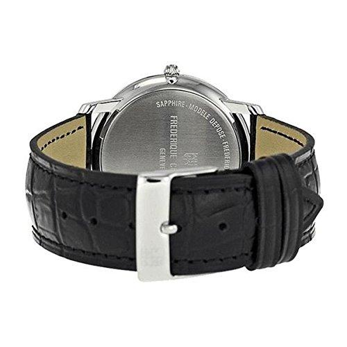 [フレデリックコンスタント]FREDERIQUE CONSTANT メンズ シルバーケース ホワイト文字盤 39mm ブラック レザー FC-200RS5S36 腕時計 [並行輸入品]