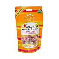 Yummy Earth, Organic Vitamin C Drops, Citrus Grove, 3.3 oz (93.5 g)
