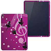 igsticker iPad Pro 12.9 inch インチ 専用 apple アップル アイパッド 2018 第3世代 A1876 A1895 A1983 A2014 全面スキンシール フル 背面 側面 正面 液晶 タブレットケース ステッカー タブレット 保護シール 人気 星 音楽 紫 005353