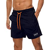 Men's Swim Trunks Quick Dry Beach Shorts with Pockets Board Shorts with Mesh Lining