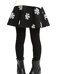 YRINA 女の子 裏起毛 スカート 付 レギンス ガールズ 子供 服 タイツ スパッツ キッズ スカッツ 110㎝~150㎝