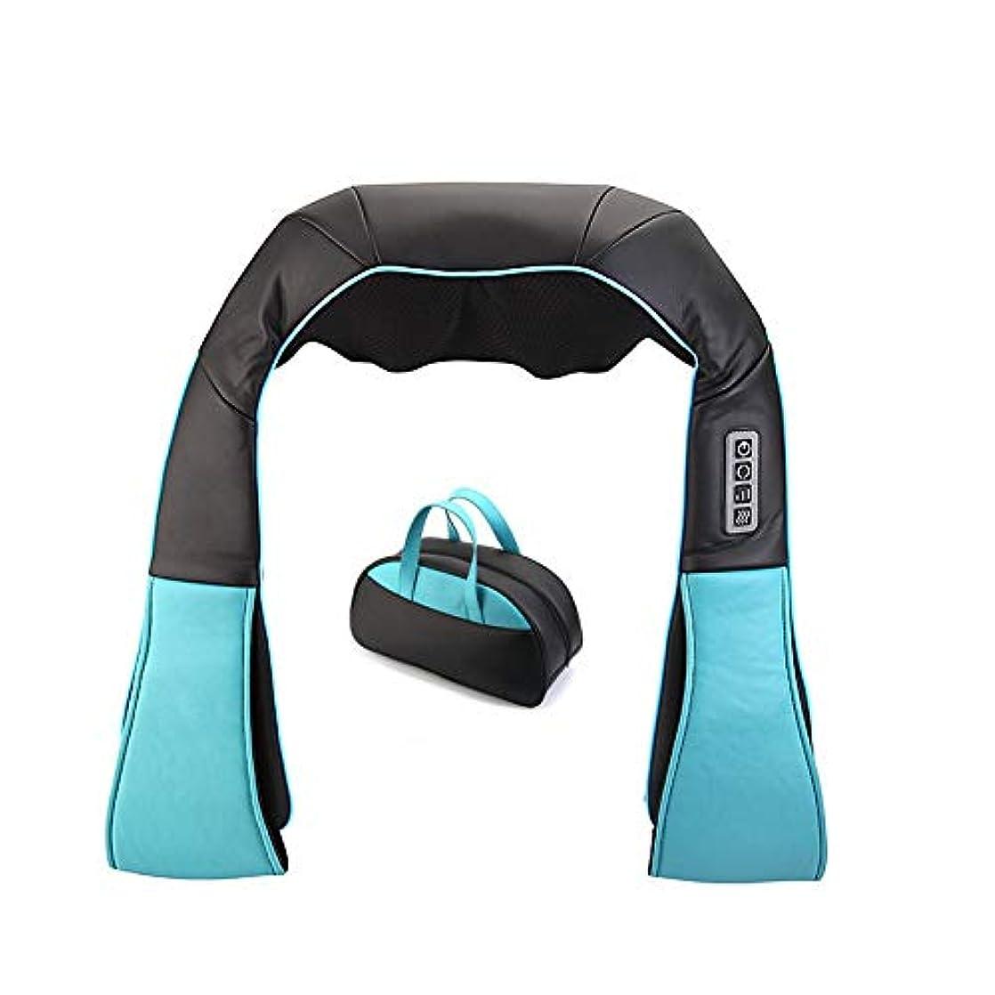 指圧背中と首のマッサージディープティッシュ3Dニーディングピロー、首と足用のニーディングマッサージピロー、自宅での使用、車