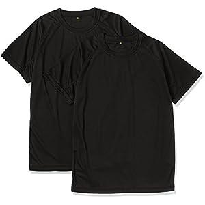 (ジェイジィエスディエフ) J.G.S.D.F クールナイス 半袖Tシャツ(2枚組)(吸水・速乾)【自衛隊衣料】6525 652501 2 ブラック L