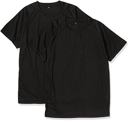 (ジェイジィエスディエフ)J.G.S.D.F クールナイス  半袖Tシャツ(2枚組)(吸水・速乾)【自衛隊衣料】6525 652501 2 ブラック XL