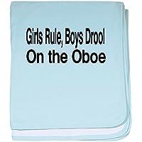 CafePress – oboe5 – スーパーソフトベビー毛布、新生児おくるみ ブルー 052209483525CD2