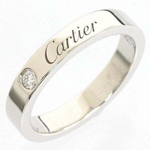 (カルティエ)Cartier エングレーブド 1Pダイヤ リング 6号 pt950 4.5g [中古]