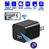 Spy Hidden Camera, WiFi Hidden Camera with Remote Viewing, 1080P HD Nanny Cam/Security Camera Indoor Video Recorder Motion Activated, Support iOS/Android, No Audio (WFCT)