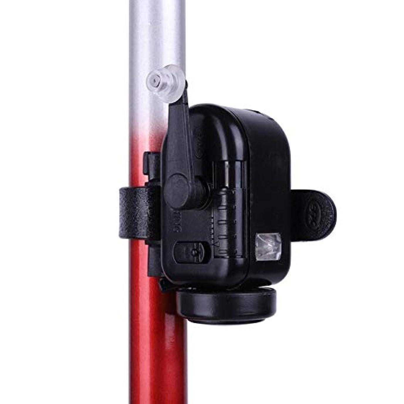 性格性的最高ABSブラック高感度フィッシュバイトアラーム調整可能容量釣り竿信号機器餌リマインダー魚検出器 f5e9f5h3j9