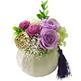 供花 プリザーブドフラワー 仏花 お供え 花 アレンジメント 供花 プリザーブドフラワー お悔やみ (ハスの実)