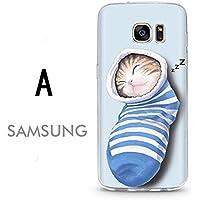 Samsung Galaxy S7 edgeケース ギャラクシー S7 エッジ ケース SC-02H/SCV33 docomo au サンスム スマホケース カバー TPU ソフトケース いやし かわいい 猫 A