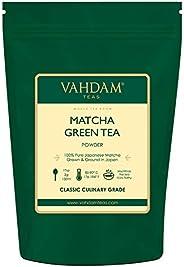 Matcha Green Tea Powder SUPERFOOD (25 Servings) 100% Pure Authentic Japanese Matcha Powder, Classic Culinary Grade Green Tea