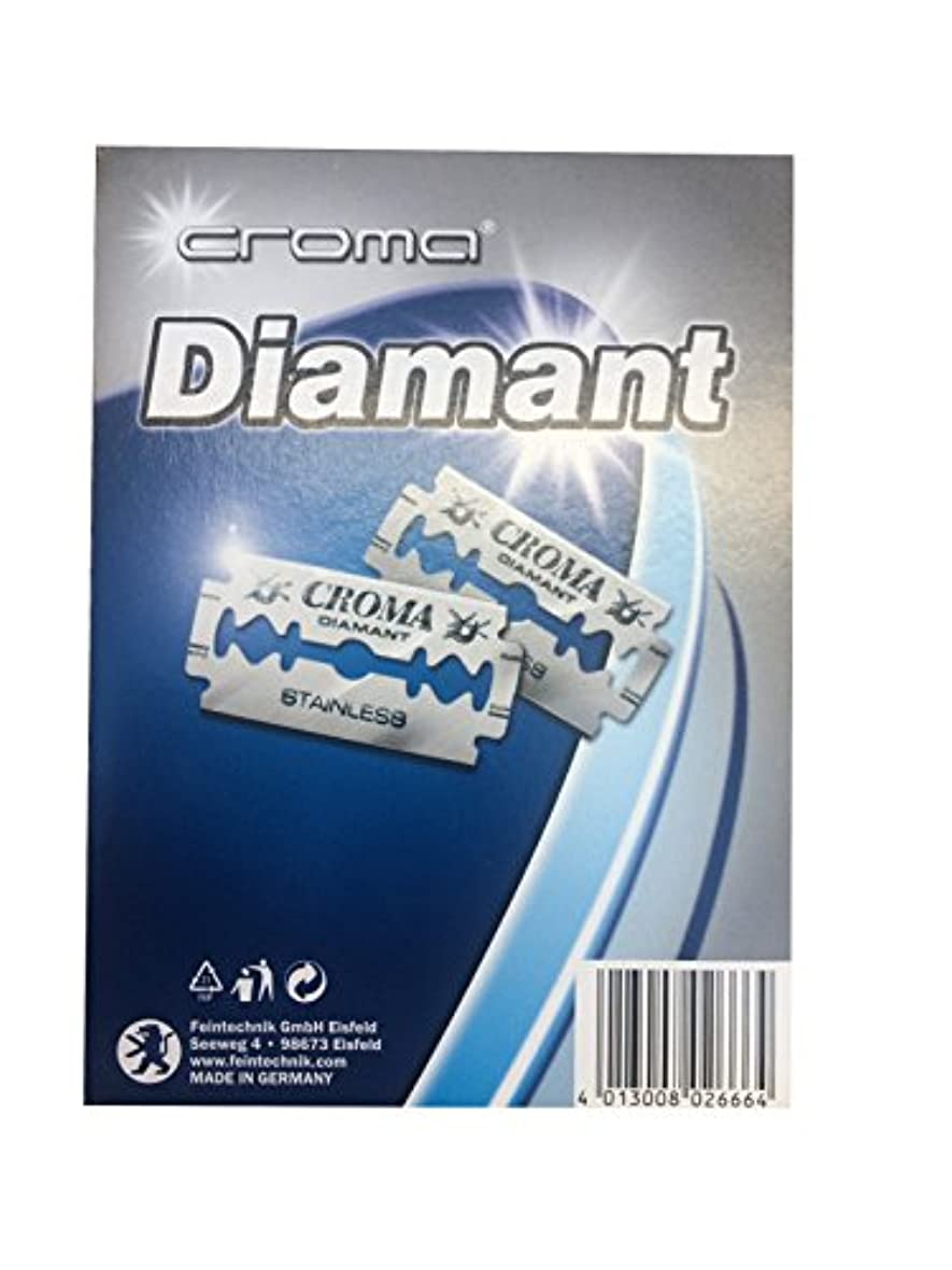 引き出し複雑な謝るCroma Diamant 両刃替刃 200枚入り(10枚入り20 個セット)【並行輸入品】