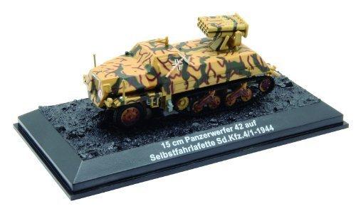 15センチメートルパンツァーヴェルファー42アウフSelbstfahrlafette Sd.Kfz.4/1から1944ダイキャスト1/72モデル 15 cm Panzerwerfer 42 auf Selbstfahrlafette Sd.Kfz.4/1  - 1944 diecast 1/72 model (Amercom BG-59)