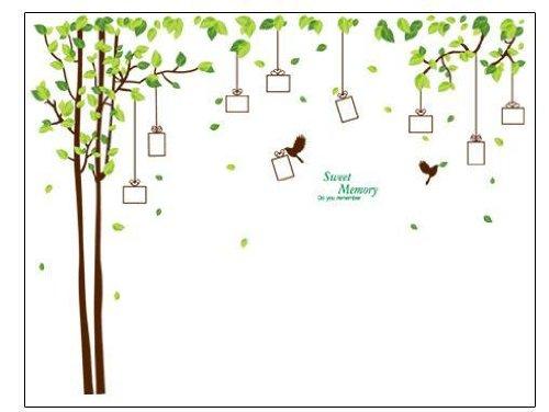 素敵なメモリーを! ウォールステッカー 木 小鳥 ウォールペーパー 壁紙シール