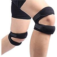 スポーツ膝保護、衝撃吸収レギンスアウトドアライディングフィットネスギア (サイズ さいず : A pair)