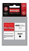 ActiveJet AC 550br Refill for Canon pgi-550bk、22mlブラック