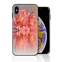 iPhone X 携帯カバー バラ 反射 花 バレンタイン カバー TPU 薄型ケース 防塵 保護カバー 携帯ケース アイフォンケース 対応 ソフト 衝撃吸収 アイフォン スマートフォンケース 耐久