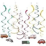 KESOTO 約30個 ぶら下げ飾り 渦巻き 車 カー バス タクシー トラクター おもちゃ 子供プレゼント