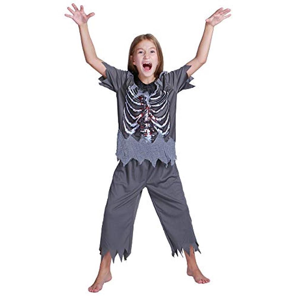 ラビリンス理想的にはロッドKUKUYA(ククヤ) ハロウィン 子供 どくろ コスプレ 仮装 コスチューム キッズ 上下セット 人気 halloween 衣装