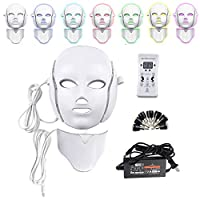 7色電気導かれた顔のマスクのフェイスマスク機械軽い療法のアクネのマスクの首の美はマスクによって導かれた光子療法を導きました,C