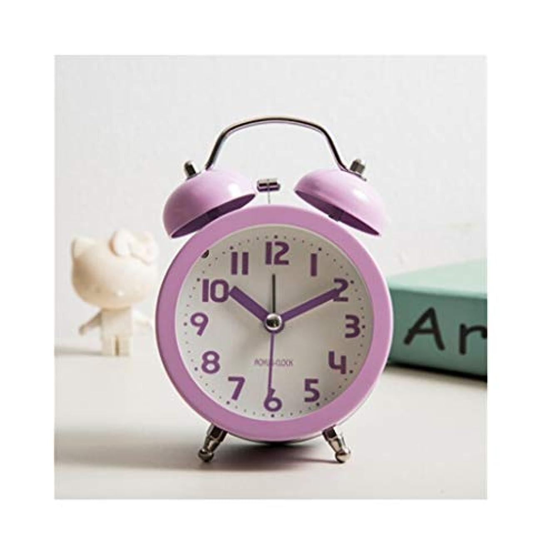 ポップ追放中Qiyuezhuangshi001 目覚まし時計、創造的な小さな時計、シンプルでかわいい時計を持つ学生、静かなベッドサイドミニの装飾品、個性オレンジ(白) 材料の安全性
