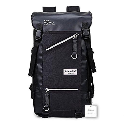 Fengdong(フォンドン)バックパック 大容量 フラップ リュックサック ボックス型 盗難防止
