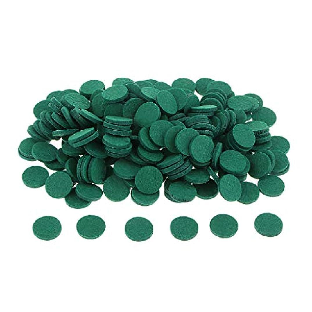 トランジスタ電報ベンチgazechimp 約200個入り 詰め替えパッド アロマオイルパッド パッド 詰め替え エッセンシャルオイル 部屋 全11色 - 緑