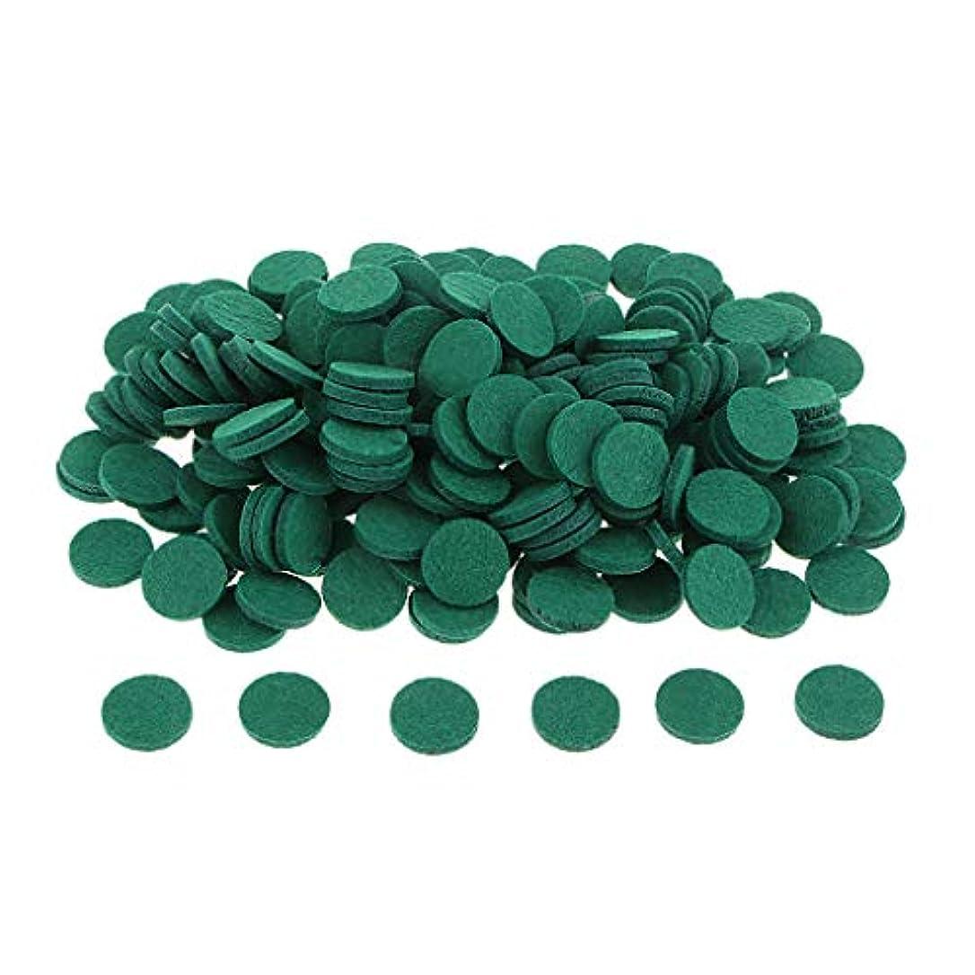 心理的密輸皿gazechimp 約200個入り 詰め替えパッド アロマオイルパッド パッド 詰め替え エッセンシャルオイル 部屋 全11色 - 緑