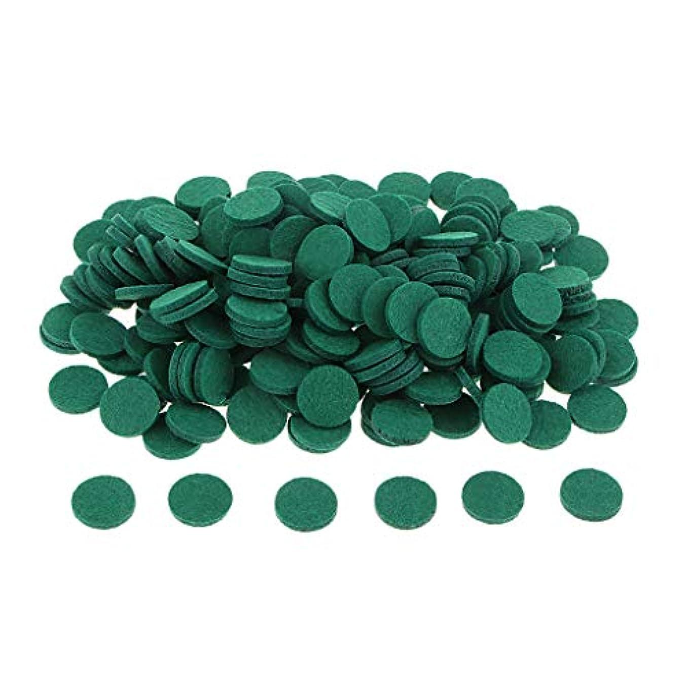 穴刻む発生する約200個入り 詰め替えパッド アロマオイルパッド パッド 詰め替え エッセンシャルオイル 部屋 全11色 - 緑