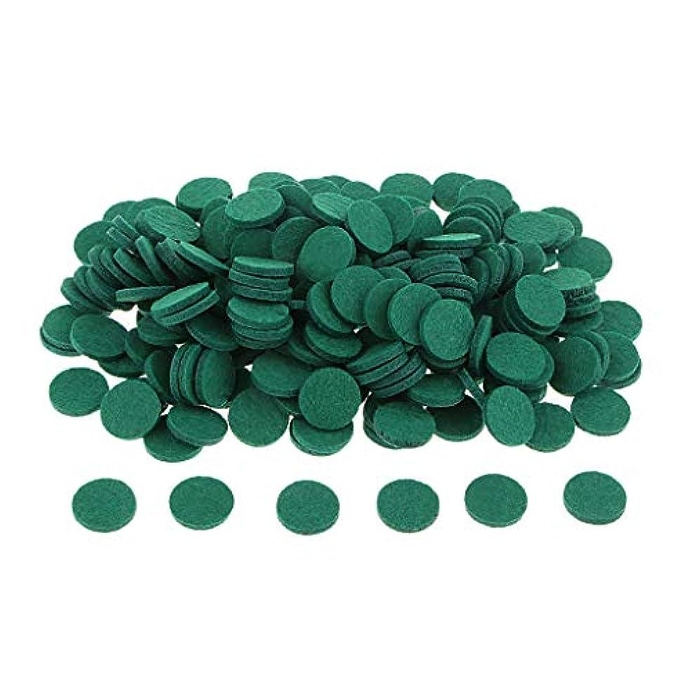 チューリップ欺く以前は約200個入り 詰め替えパッド アロマオイルパッド パッド 詰め替え エッセンシャルオイル 部屋 全11色 - 緑