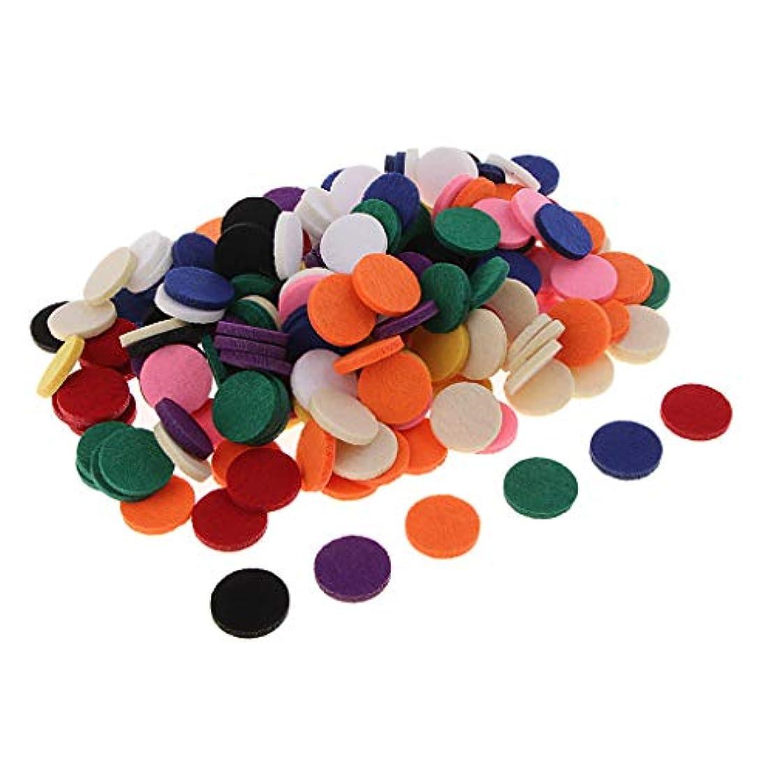 バックアップのヒープ補正ディフューザー パッド アロマパッド エッセンシャルオイル 洗える 約200個入り 全11色 - 混在