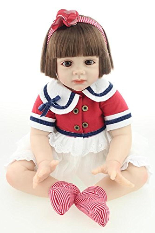 oumeinuo 23インチ56 cm Rebornベビー人形SiliconeビニールLovely Lifelike Cute Girl Doll Toy +服+磁気おしゃぶり