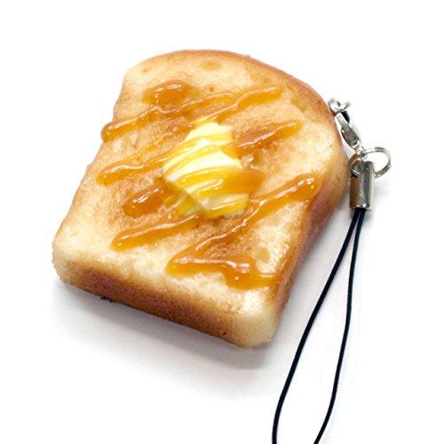 食品サンプルストラップ 食べちゃいそうなトースト(ハニー) 130OS