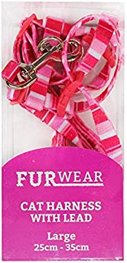 Furwear Fashion Cat Harness with Lead, Large, Pink