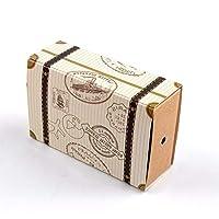 50個セットギフトボックス ギフトボックス スーツケースの形状 バレンタインデー用ギフトボックスお菓子箱 結婚お祝い