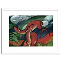 Painting Marc Red Deer Old Master Framed Wall Art Print