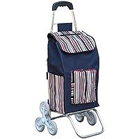 ショッピングカート ハンドカート、折り畳みショッピングカートホームポータブルトロリー車ショッピングカート手荷物カート引き出しカートトロリー、8色 (色 : B)