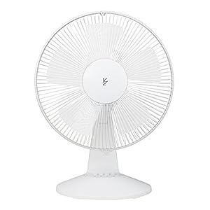 山善 30cm羽根 卓上扇風機 お座敷扇風機 卓上 座 首振り 風量3段階 ホワイト YTS-J30(W)