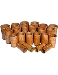 マッサージバキュームカップキット - カッピング竹療法セット - 炭缶鍼治療ボディ医療吸引セット,A10pcs