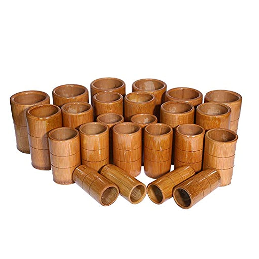 忠誠急いで影響力のあるマッサージバキュームカップキット - カッピング竹療法セット - 炭缶鍼治療ボディ医療吸引セット,A10pcs