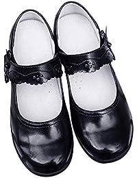 [RKHK] フォーマルシューズ 女の子 フォーマルシューズ フラット キッズ パンプス フォーマル靴 3歳-15歳 卒園式 卒業式 入園式 入学式 通学 通園 冠婚葬祭 発表会 ブラック