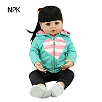 Seawang 赤ちゃん 人形 NPK 女の子 ポニーテール リボーンベビードール 抱き人形 お世話の練習対象 ベビー ケア レーニング かわいい